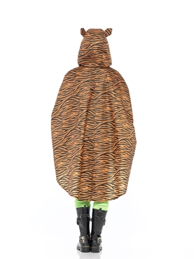 Tiger Party Poncho Festival Costume - Side View