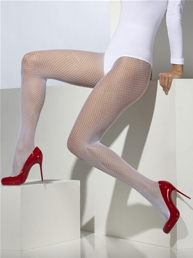 Tights White Fishnet