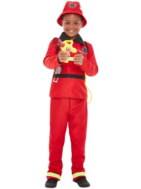 Toddler Fire Fighter Costume - Side View