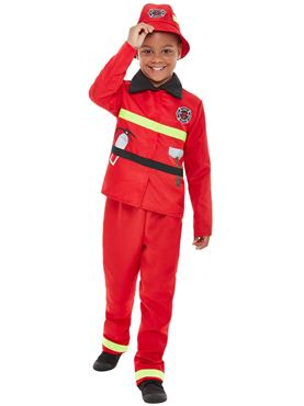 Toddler Fire Fighter Costume - Back View