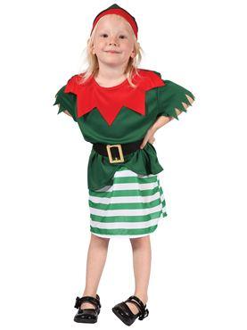 Child Toddler Girl Santas Little Helper Costume