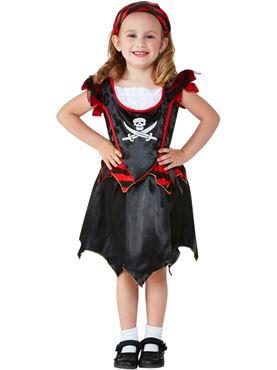 Toddler Pirate Skull & Crossbones Costume - Back View