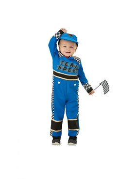 Toddler Racing Car Driver Costume - Back View