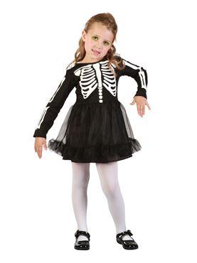 Toddler Skeleton Girl Costume