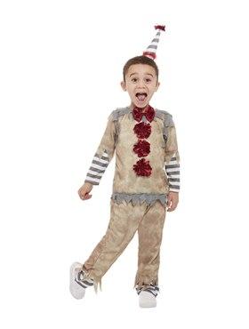 Toddler Vintage Clown Costume