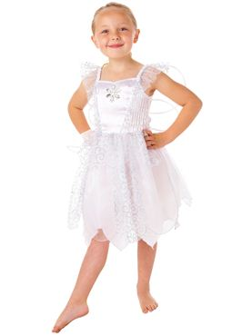 Toddler White Fairy Costume