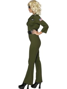 Adult Top Gun Aviator Costume - Back View