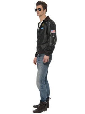 Adult Top Gun Bomber Jacket - Side View