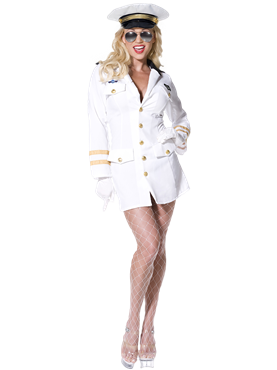 Adult Top Gun Officer Costume Couples Costume