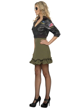 Adult Top Gun Officer Costume - Side View