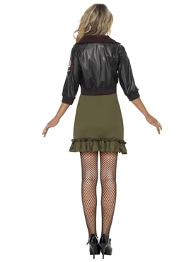 Adult Top Gun Officer Costume - Back View