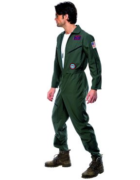 Adult Top Gun Pilot Costume - Side View