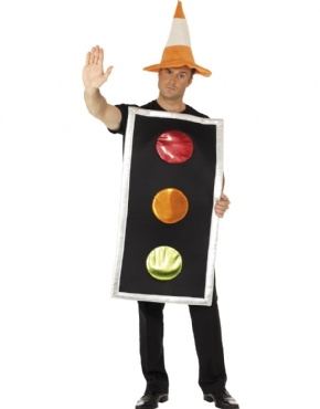 Adult Traffic Light Costume Couples Costume