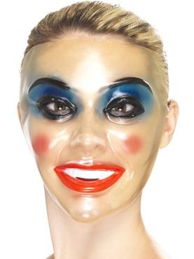 Transparent Female Face Masks - Back View
