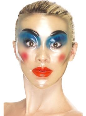 Transparent Female Face Masks - Side View