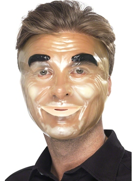 Transparent Male Face Mask - Side View
