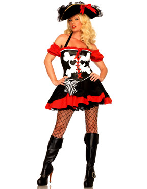 Adult Treasure Island Temptress Pirate Costume