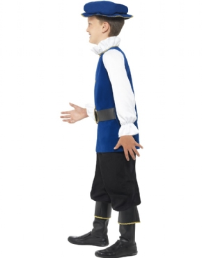 Child Tudor Boy Costume - Back View
