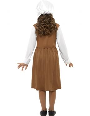 Child Tudor Girl Costume - Side View