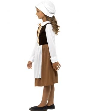 Child Tudor Girl Costume - Back View