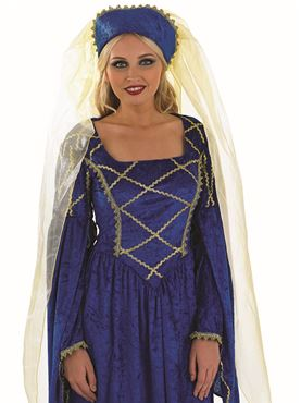 Adult Tudor Lady Costume - Back View