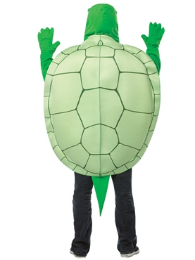 Adult Deluxe Turtle Costume - Back View