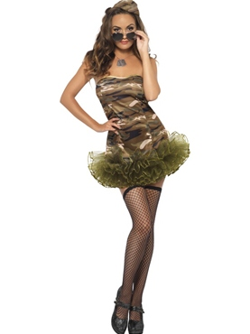Adult Tutu Army Costume - Side View