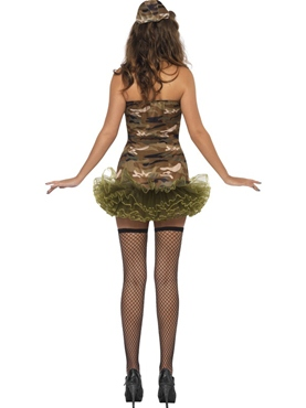 Adult Tutu Army Costume - Back View