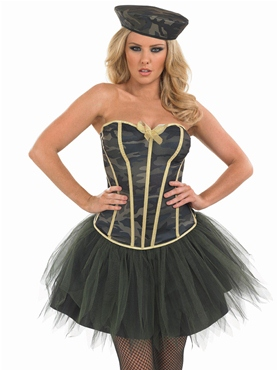 Adult Tutu Army Girl Costume