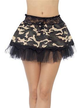 Tutu Black And Khaki Net Underskirt - Back View