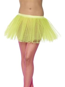 Tutu Underskirt Neon Yellow - Back View