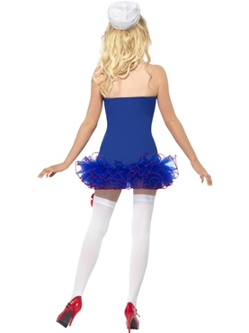 Adult Tutu Sailor Costume - Side View