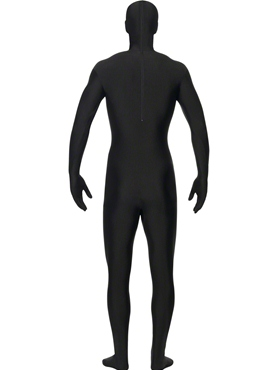 Adult Tuxedo Pattern Second Skin Costume - Side View