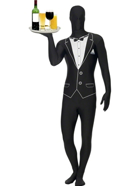 Adult Tuxedo Pattern Second Skin Costume