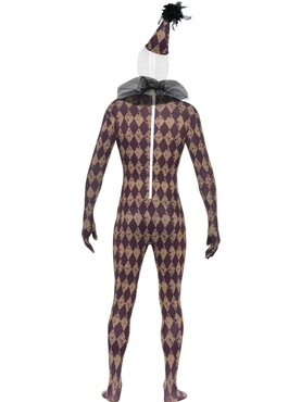 Adult Twisted Harlequin Second Skin Costume - Side View