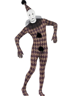 Adult Twisted Harlequin Second Skin Costume