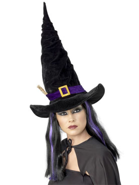 Twisty Black Witches Hat