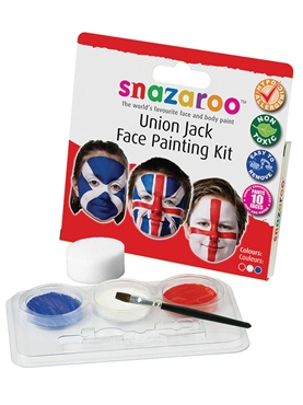 Union Jack Face Painting Kit - Back View