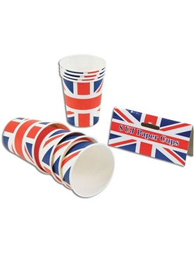 Union Jack Paper Cups (pack of 8)