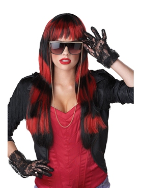 Untamed Wig Red Striped