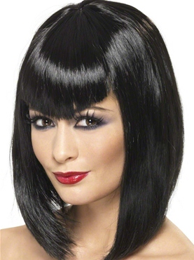 Adult Black Vamp Wig