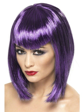 Adult Purple Vamp Wig