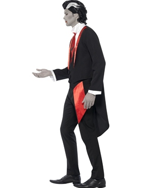 Adult Vampire Leading Man Costume - Back View