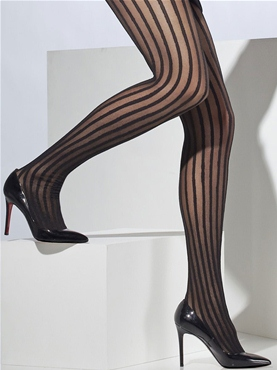 Vertical Striped Tights - Back View
