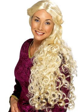Very Long Guinevere Wig Blonde