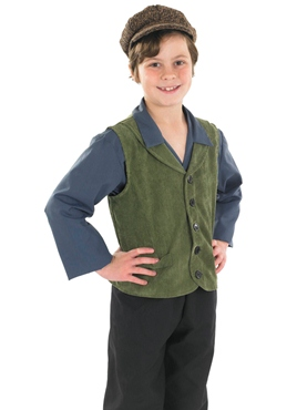 Child Victorian Boy Costume - Side View