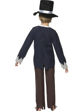 Child Victorian Poor Boy Costume - Side View