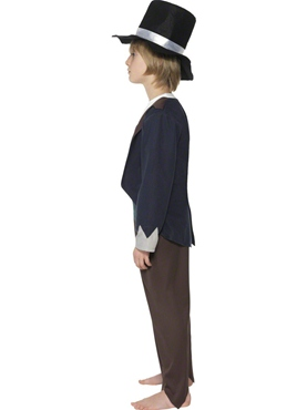 Child Victorian Poor Boy Costume - Back View