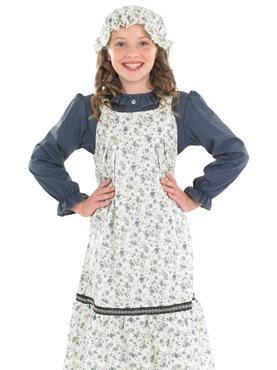 Child Victorian School Girl Costume - Back View