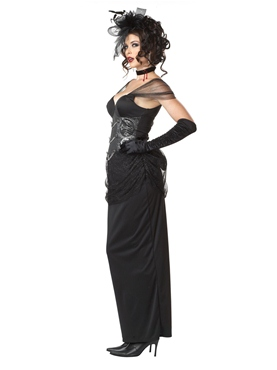 Adult Victorian Vampiress Costume - Back View